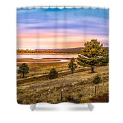 Snaking  River Shower Curtain