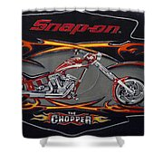 Snap-on Chopper Shower Curtain