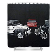 Snap-on Ford Trucks Shower Curtain