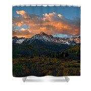 Sneffels Autumn Sunrise Shower Curtain