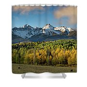 Sneffls Range Panorama From County Road 5  Shower Curtain