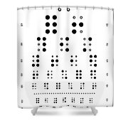 Snellen Chart - Braille Shower Curtain