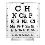 Snellen Chart - Chemical Abundance In Human Body Shower Curtain