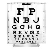 Snellen Chart - Full Alphabet Shower Curtain