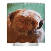 Snicker Doodle 852 -  Painting Shower Curtain