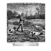 Snipe Hunters, 1886 Shower Curtain