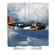 Snj-5  Texan T-6  Smoke On Shower Curtain