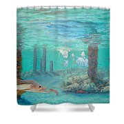 Snook Painting Shower Curtain