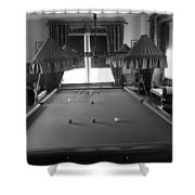 Snooker Room Shower Curtain