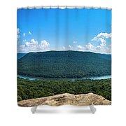 Snooper's Rock Overlook Shower Curtain