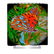 Snooty Butterfly Shower Curtain