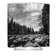Snoqualmie River Shower Curtain