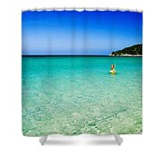 Snorkeling At Karon Beach Shower Curtain