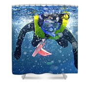 Snorkeling At The Great Barrier Reef Shower Curtain
