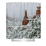 Snow 06-027 Shower Curtain