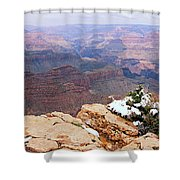 Snow And Canyon - Grand Canyon Shower Curtain