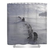 Snow And Clouds Shower Curtain