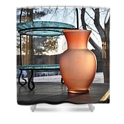 Snow And Glass Shower Curtain