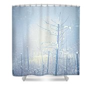 Snow And Remnants Of The Fire 2 Shower Curtain