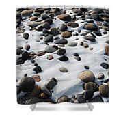 Snow And Stone Shower Curtain