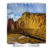 Snow And Sun Shower Curtain