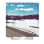Snow And The Open Road Shower Curtain