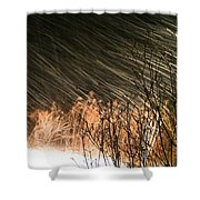 Snow And Wind Shower Curtain