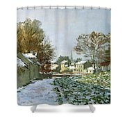 Snow At Argenteuil Shower Curtain