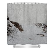Snow Blind Shower Curtain