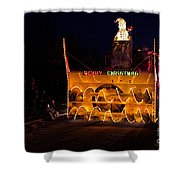 Snow Blower As Float In Shipshewana Light Parade Shower Curtain