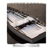 Snow Boat Shower Curtain