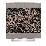 Snow By Gaslight Shower Curtain