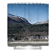 Snow Capped Mourne Mountains Shower Curtain