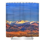 Snow-capped Panorama Of The Rockies Shower Curtain by Scott Mahon