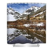 Snow-capped Refections Shower Curtain