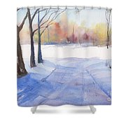 Snow Country Shower Curtain