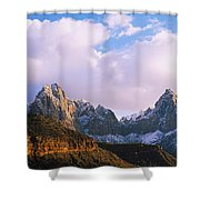 Snow Covered Mountain Range, The Shower Curtain