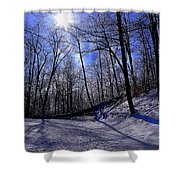 Snow Covered Path Shower Curtain