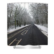 Snow Covered Road Shower Curtain
