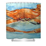 Snow Crab Is Ready Shower Curtain