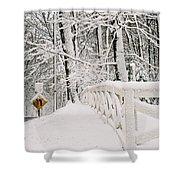 Snow Curve Shower Curtain