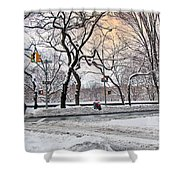 Snow Day On 5th Avenue Shower Curtain