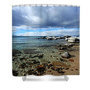 Snow Day On Her Shore Shower Curtain