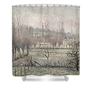 Snow Effect At Eragny Shower Curtain