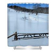 Snow Fence Shower Curtain