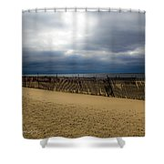 Snow Fence II Shower Curtain