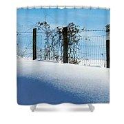 Snow Fence Shower Curtain by Joyce Kimble Smith