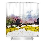 Snow Field Shower Curtain