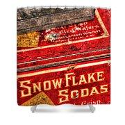 Snow Flake Sodas 767 Shower Curtain