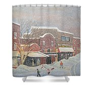 Snow For The Holidays Painting Shower Curtain